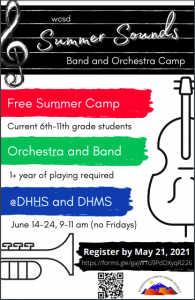 WCSD Summer Band and Orchestra Camp