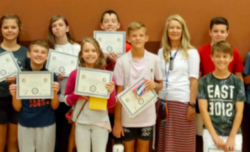 Students receiving Awards